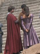 Alexander Vlahos Colin Morgan and Angel Coulby Behind The Scenes Series 5
