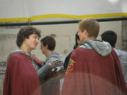 Alexander Vlahos and Bradley James Behind The Scenes Series 5
