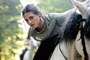 Morgana on her horse