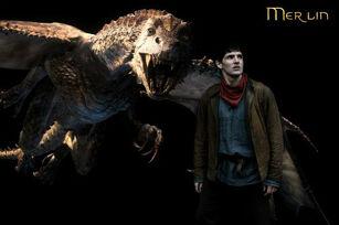 Kilgharrah and Merlin