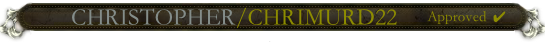 Christopher nameplate