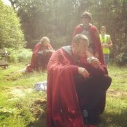 Rupert Young Alexander Vlahos and Tom Hopper Behind The Scenes Series 5