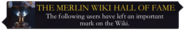 Merlin Wiki Hall of Fame