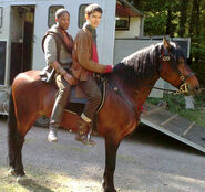 Adetomiwa Edun and Colin Morgan Behind The Scenes Series 3