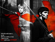 Merthur - King and Lionheart