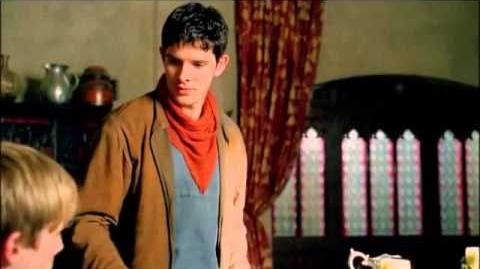 "Merlin & Arthur 5x03 ""You're threatening me with a spoon?!?""scene"