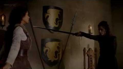 Merlin - Gwen and Morgana Sword Fight 4x13