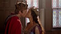 Arthur and Gwen Kiss for the first time as King and Queen