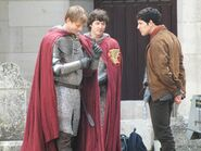 Bradley James Colin Morgan and Alexander Vlahos Behind The Scenes Series 5-5