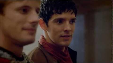 "Merlin 5x01 ""Arthur's Bane - part 1"" Merlin, Arthur and Gwen scene 1"