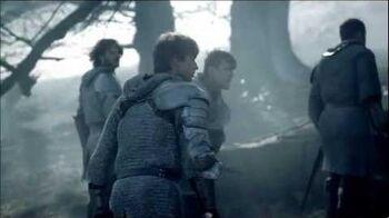 """Merlin 5x01 """"Arthur's Bane - part 1"""" Morgana attacks Arthur"""