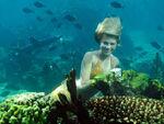 Bella underwater
