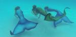 Three Tails Swimming