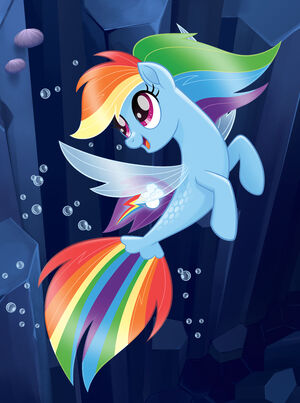 Merpony Rainbow Dash