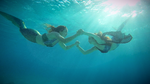 Jackie and Emily Underwater