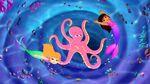 Mermaids Circling Octopus