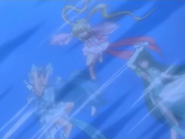 Lucia,Hanon And Rina Being Hit With Waterspouts