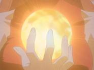 Sheshe Holding The Light Ball In Her Hand