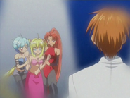 Kaito Watching Lucia Being Held By Sheshe Mimi