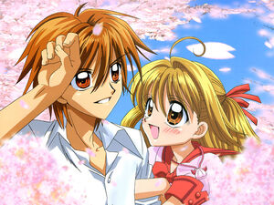 Lucia And Kaito (Flower Art Back Ground)