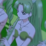Green Mermaid Playing Flute