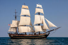 HMS BOUNTY II with Full Sails