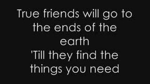 Hannah Montana - True Friend Lyrics