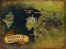 Havens of Belfalas map