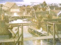 Alan Lee - The Hobbit - 13 - Lake Town