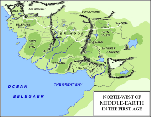 Steven White Jr. - North-west of Middle-earth (First Age)
