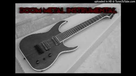 Doom metal guitar instrumental track in Cm (Heavy metal music 2018)