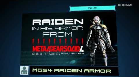 METAL GEAR RISING REVENGEANCE MGS4 Raiden Armor DLC