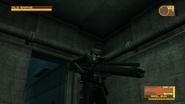 Snake using a Rail Gun (Metal Gear Solid 4)