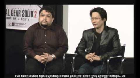 Metal Gear Solid 2 · Rare Hideo Kojima Interview