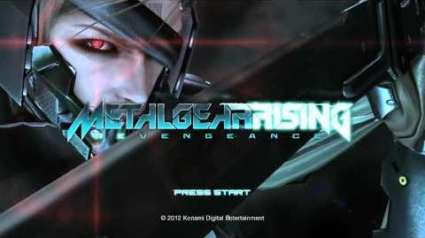 Metal Gear Rising E3 Demo Title Screen