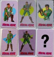 FC Metal Gear character cards