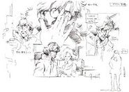 MGS1 Otacon Concept Sketches
