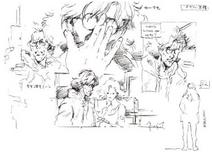 MGS1 Otacon Concept Sketches
