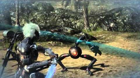 "Metal Gear Rising Revengeance - Dwarf Gekko ""Cut at Will"" Gameplay MetalGearSolidTV.com"