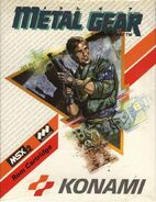 MSX2 Metal Gear box front