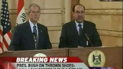 Bush Dodges Shoes Thrown by Iraqi Journalist