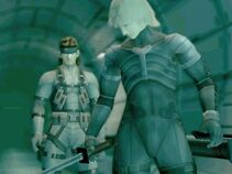 Raiden y Sneke en el Arsenal gear