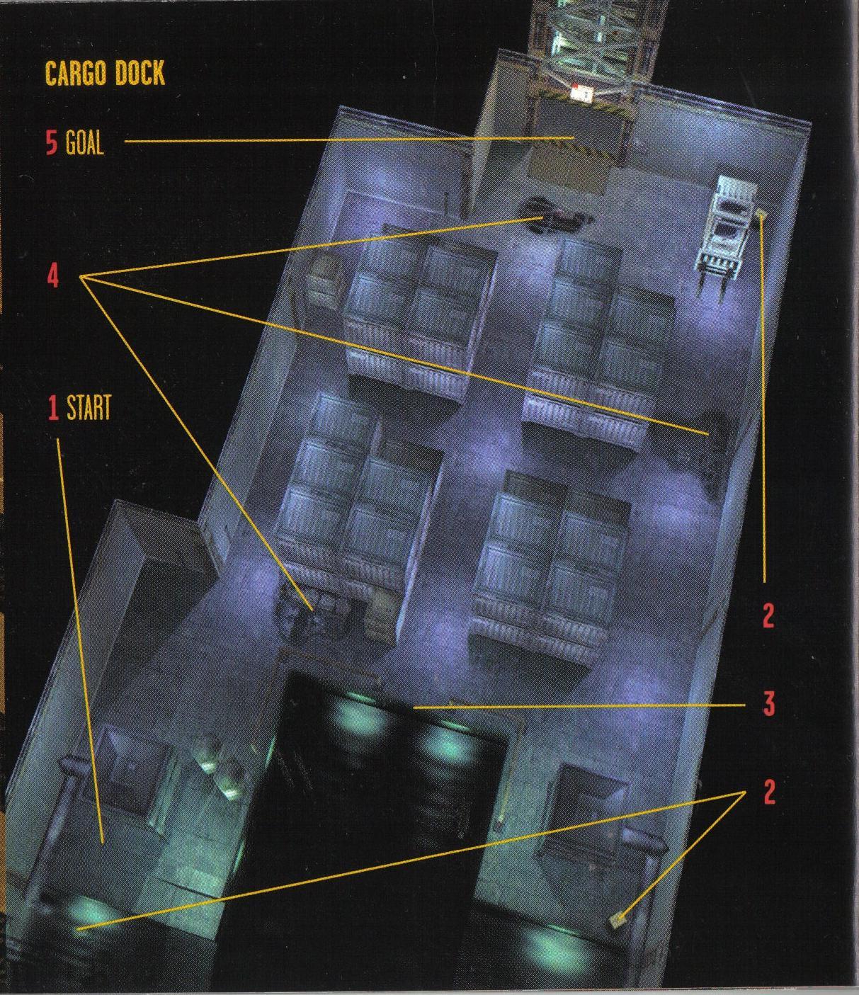 Metal gear solid walkthrough tank hangar metal gear wiki for Floor 4 mini boss map
