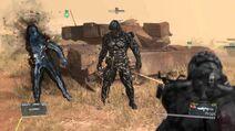 Skulls armour fight