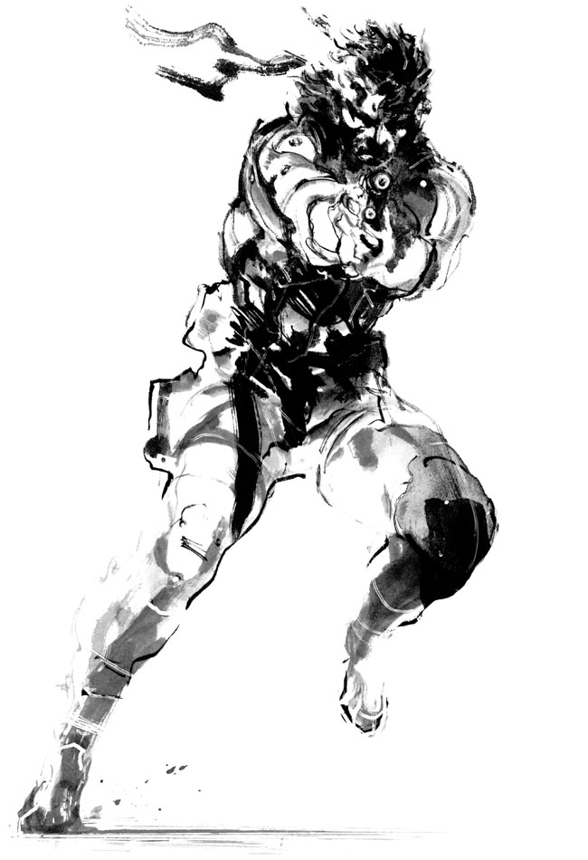 Mgs2-solid-snake-bw