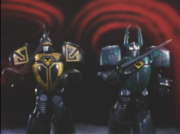 Kabuterios and Kuwaga Titan in the past