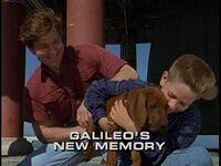 Galileo's New Memory