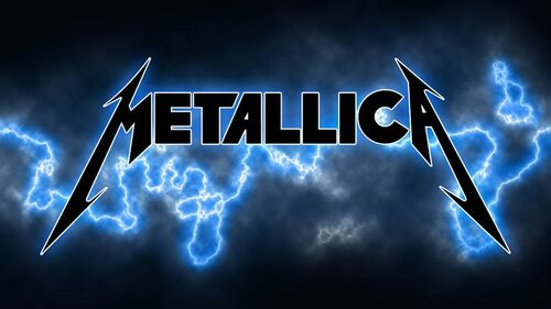 Metallica – Logo blau