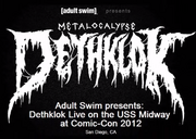 Dethklok Comic Con live flyer