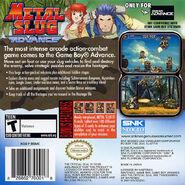 Metal Slug Advance Cover(Back)